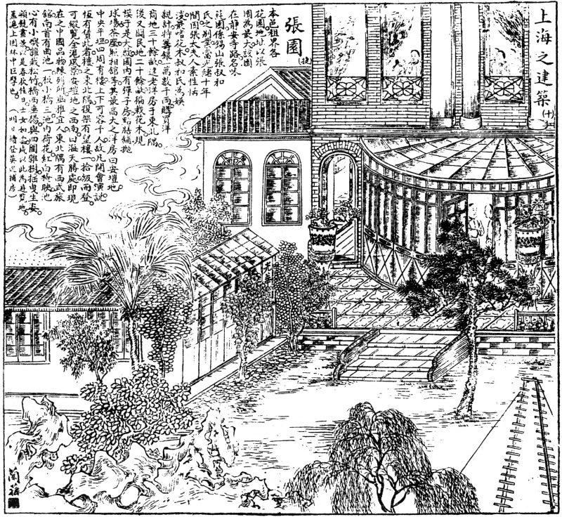 Сад Чжана на иллюстрации начала 20-го века. Источник: 图画日报