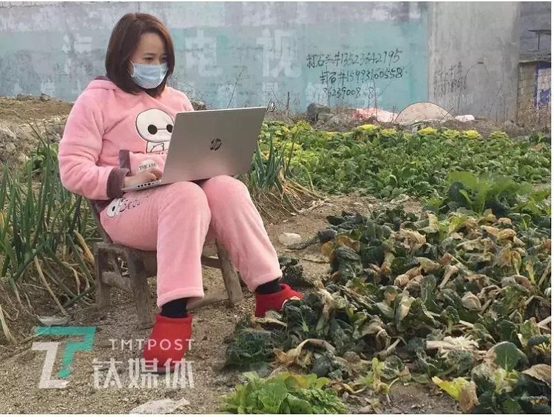 Кто-то прямо на огороде, где лучше ловит интернет. Источник: GICexpat